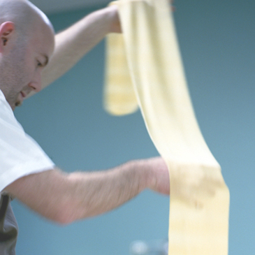image of tim at making pasta